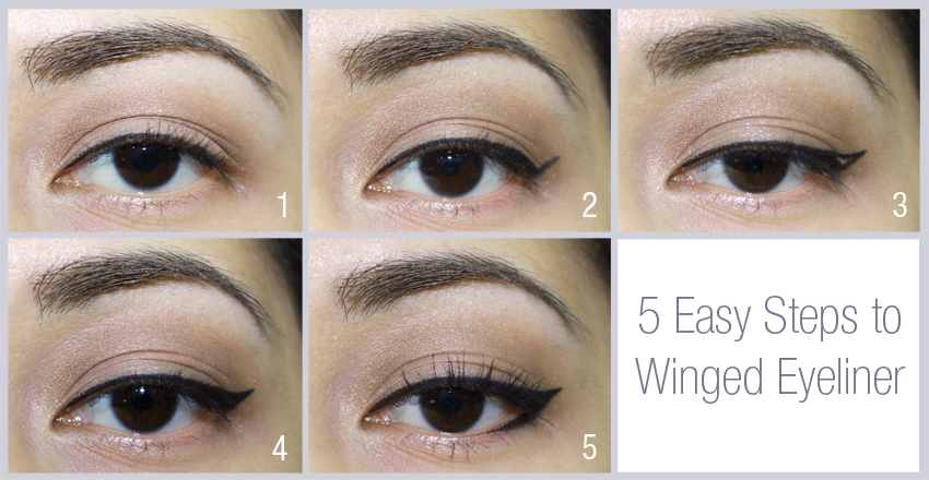 Winged Eyeliner steps tutorial
