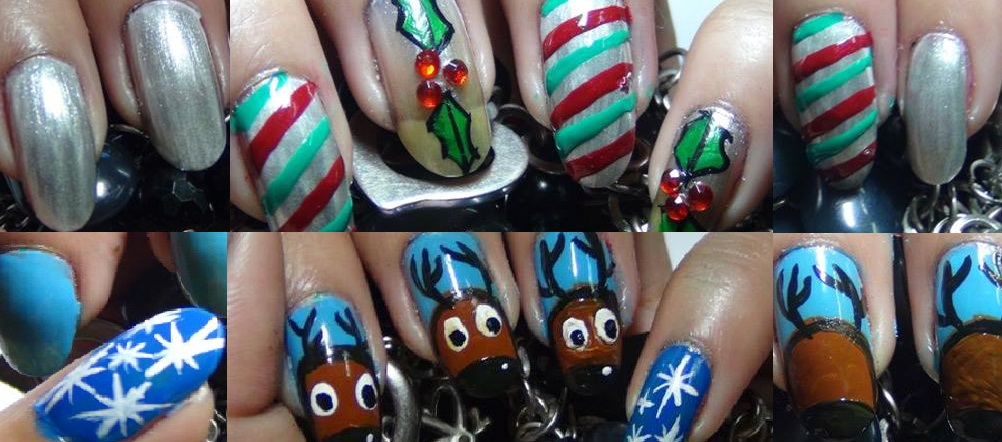 cute hoilday nail art designs tutorial with detalied steps