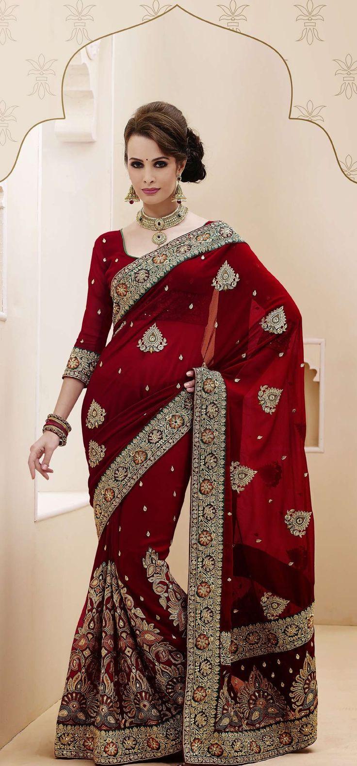 latest indian wedding sarees - photo #42