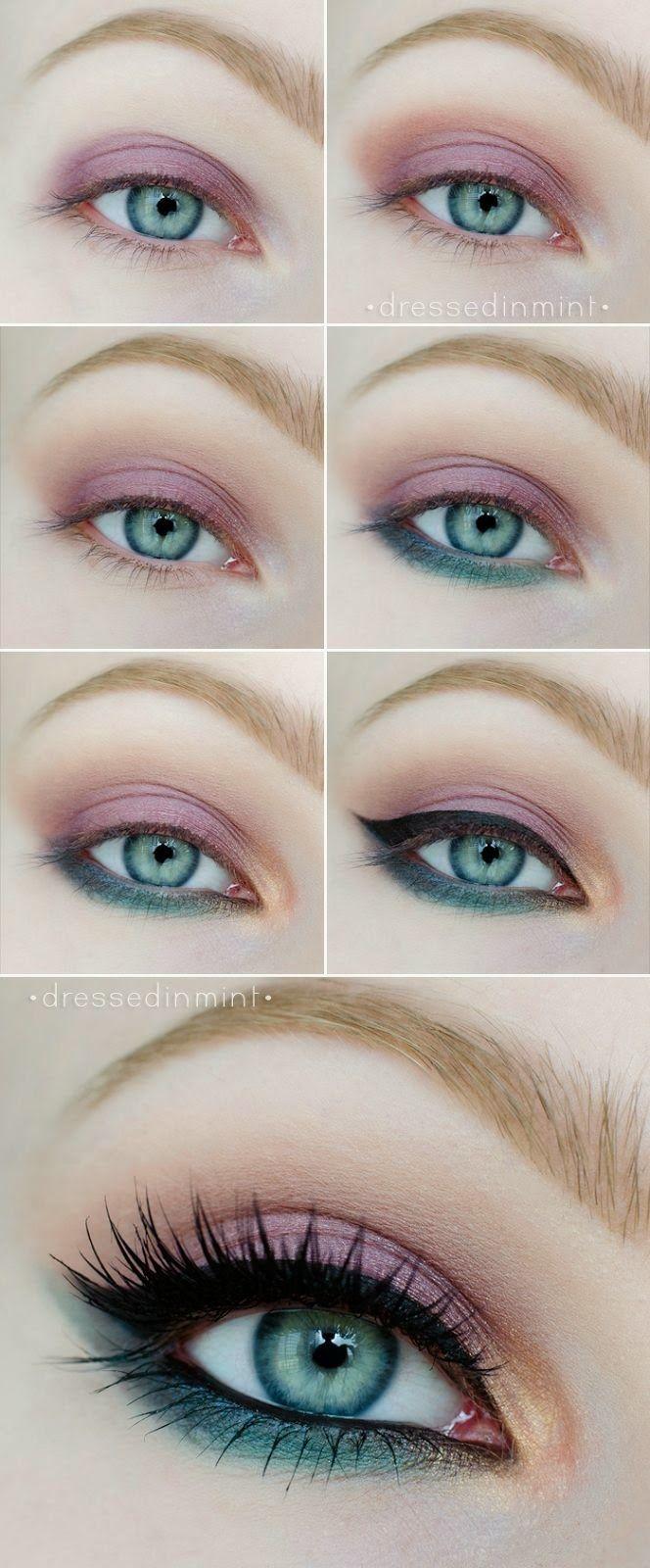 pastel eye makeup tutorial  (1)