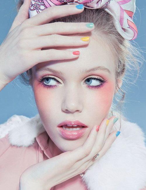 pastel makeup looks (7)