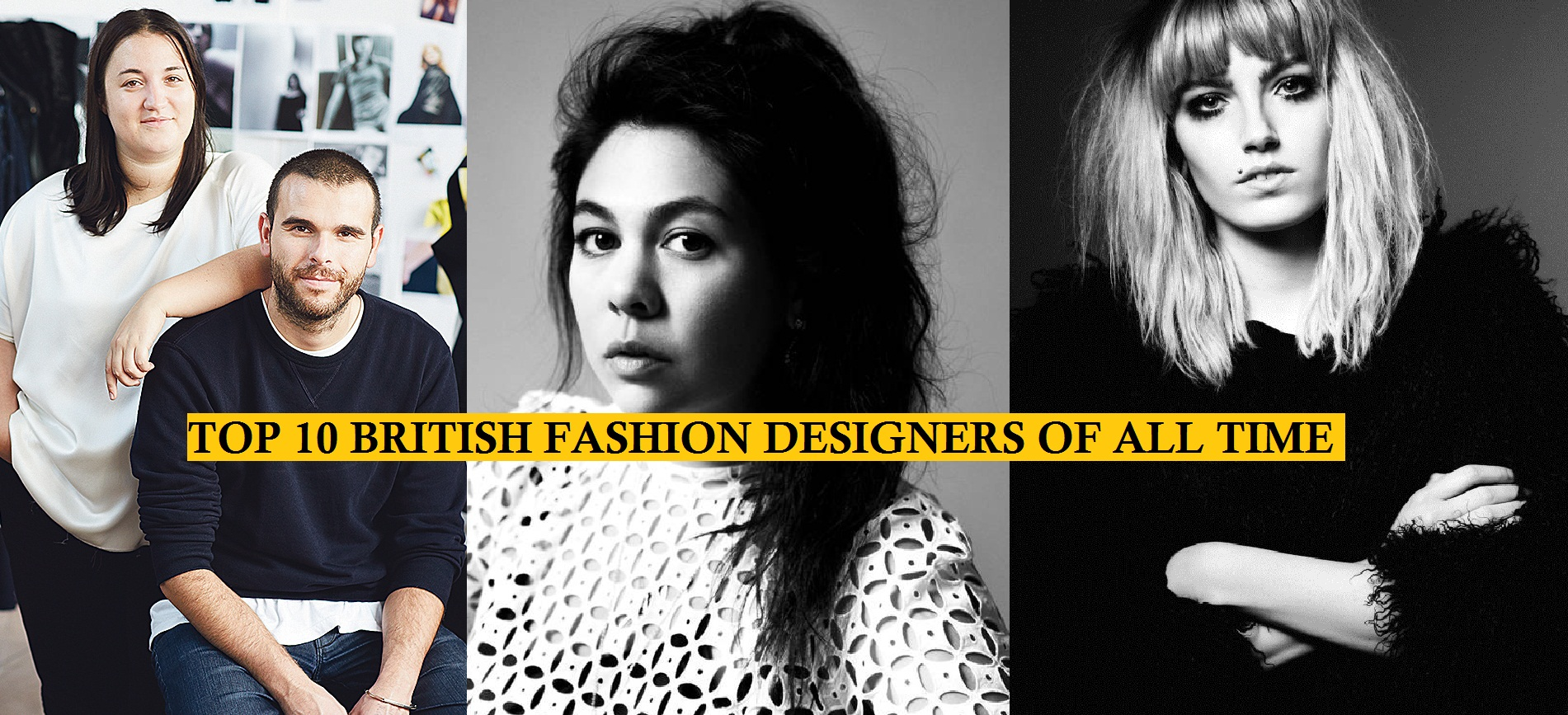 Top 10 most popular british fashion designers for Famous british designers