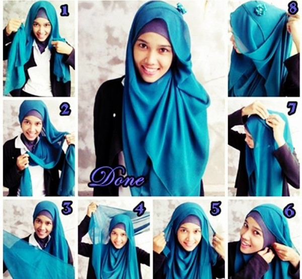Butterfly hijab style tutorial