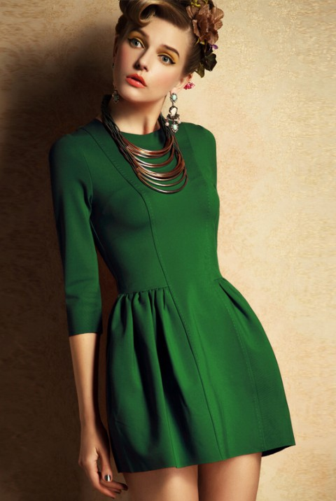 Closet Flared Dress Styles Latest Collection 2015-2016 (7)