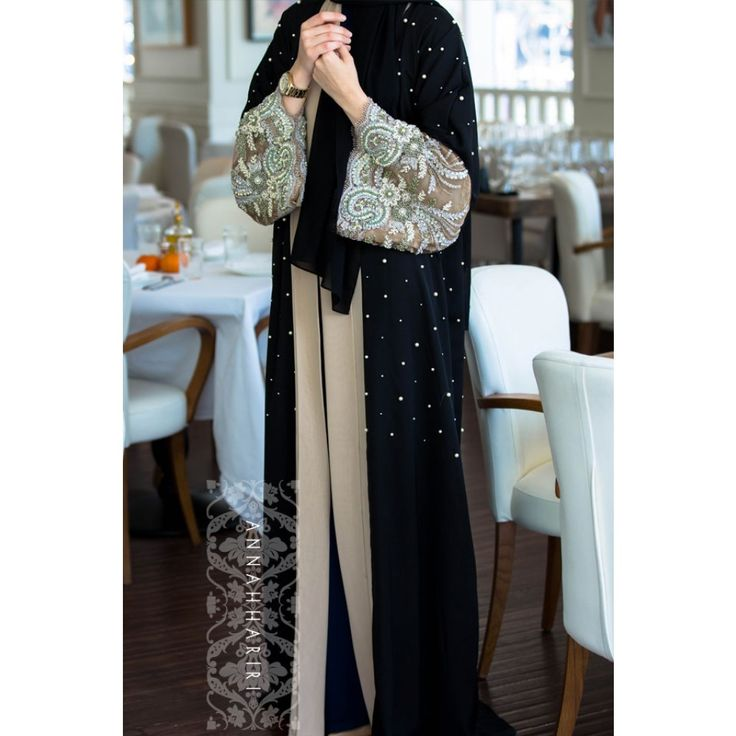 Fancy Lace Embroidered Abaya Designs Latest Collection