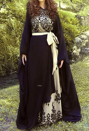 Fancy Lace Abaya Designs Collection 2016 2017
