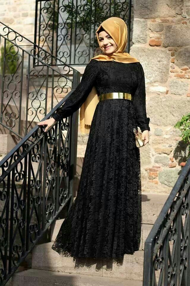 Fancy Lace Abaya Designs Collection 2015-2016 (21)