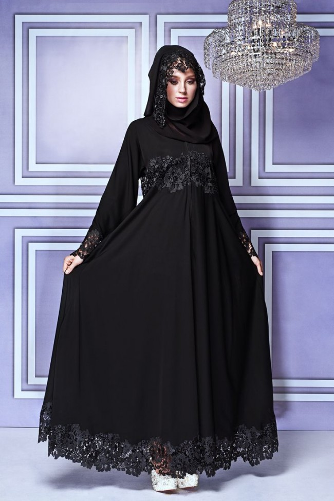 Fancy Lace Abaya Designs Collection 2015-2016 (24)
