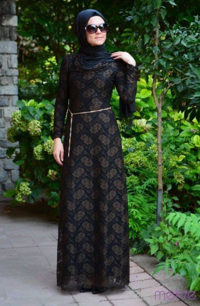 Fancy Lace Abaya Designs Collection 2015-2016 (25)