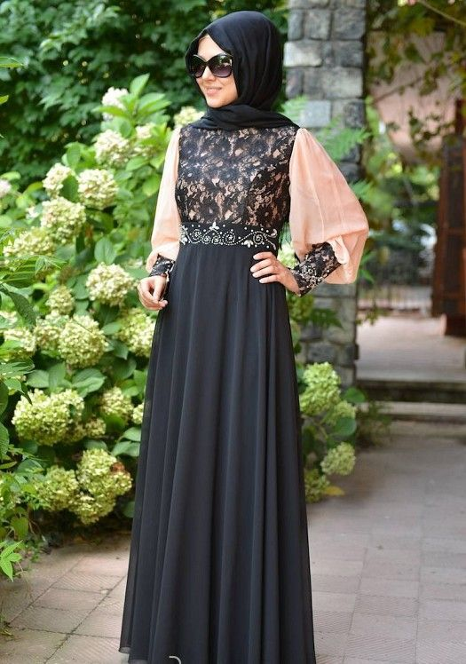 Fancy Lace Abaya Designs Collection 2015-2016 (9)