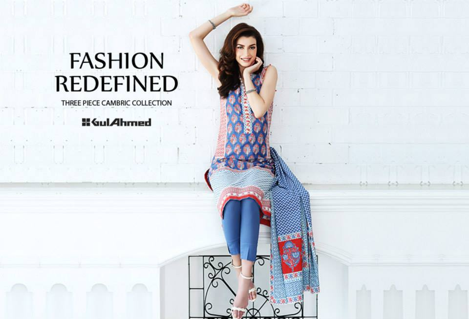 Gul Ahmed Mid Summer Cambric Dresses 2015-2016 (10)