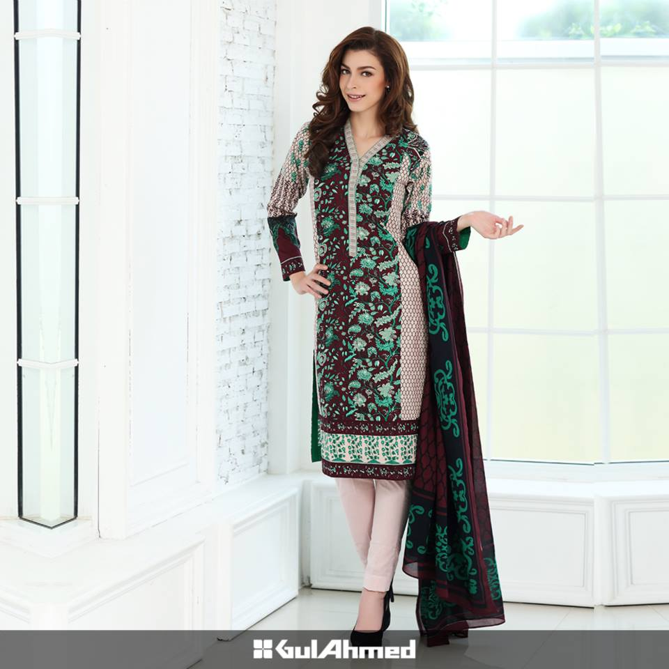 Gul Ahmed Mid Summer Cambric Dresses 2015-2016 (11)