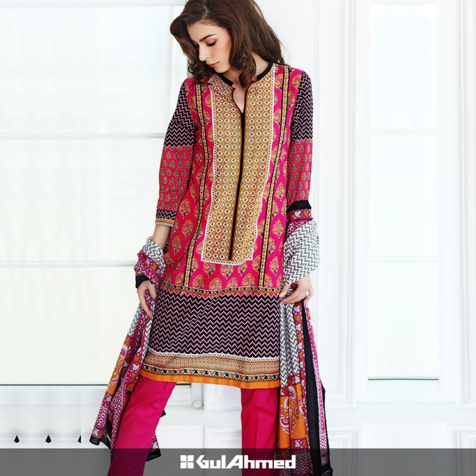 Gul Ahmed Mid Summer Cambric Dresses 2015-2016 (3)