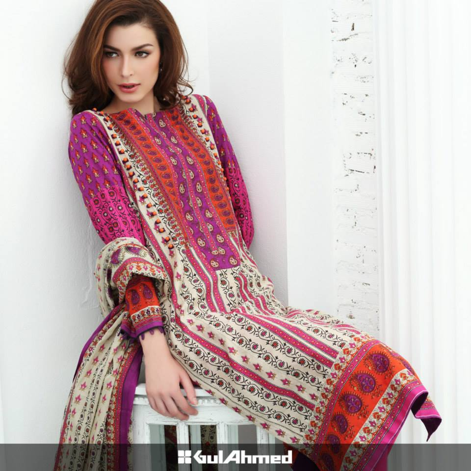 Gul Ahmed Mid Summer Cambric Dresses 2015-2016 (4)
