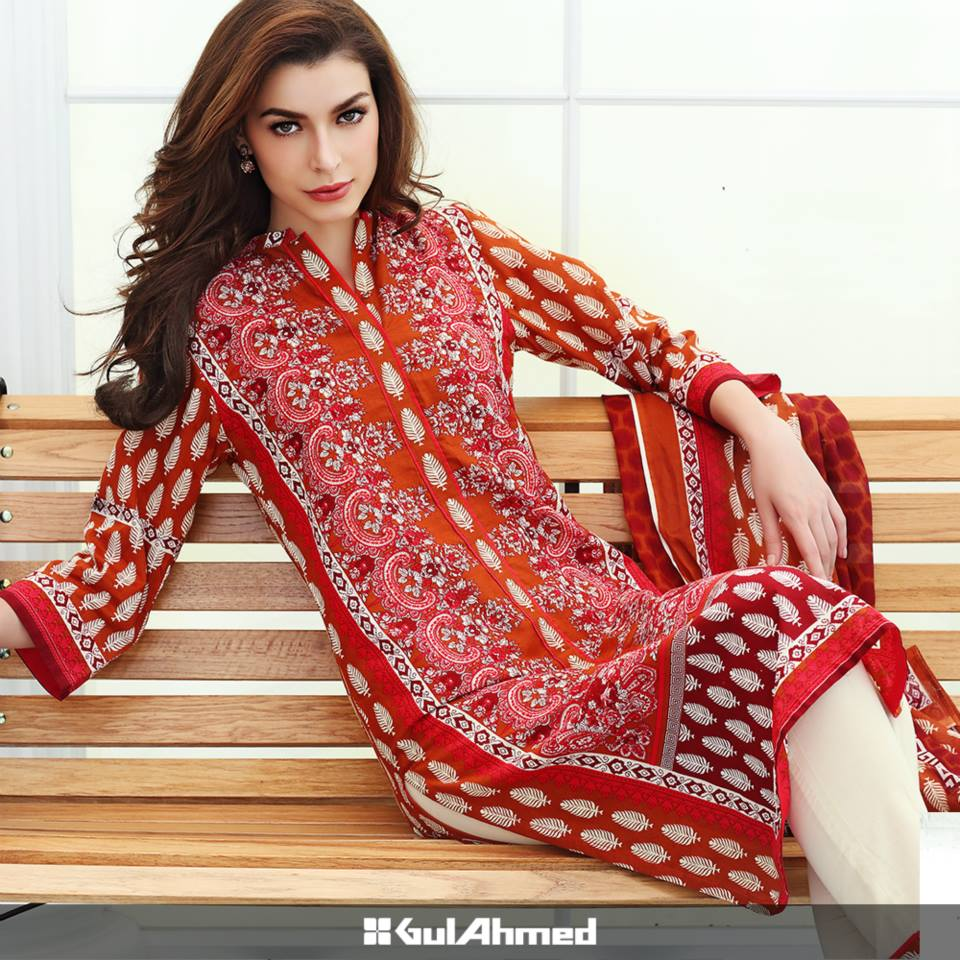Gul Ahmed Mid Summer Cambric Dresses 2015-2016 (6)