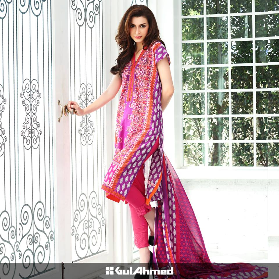 Gul Ahmed Mid Summer Cambric Dresses 2015-2016 (8)