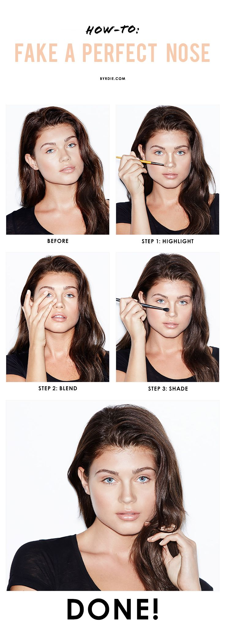 How to Get Thinner Nose with Makeup- Step by Step Tutorial (1)