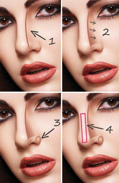 How to Make Nose Look Thinner with Makeup-Tutorial