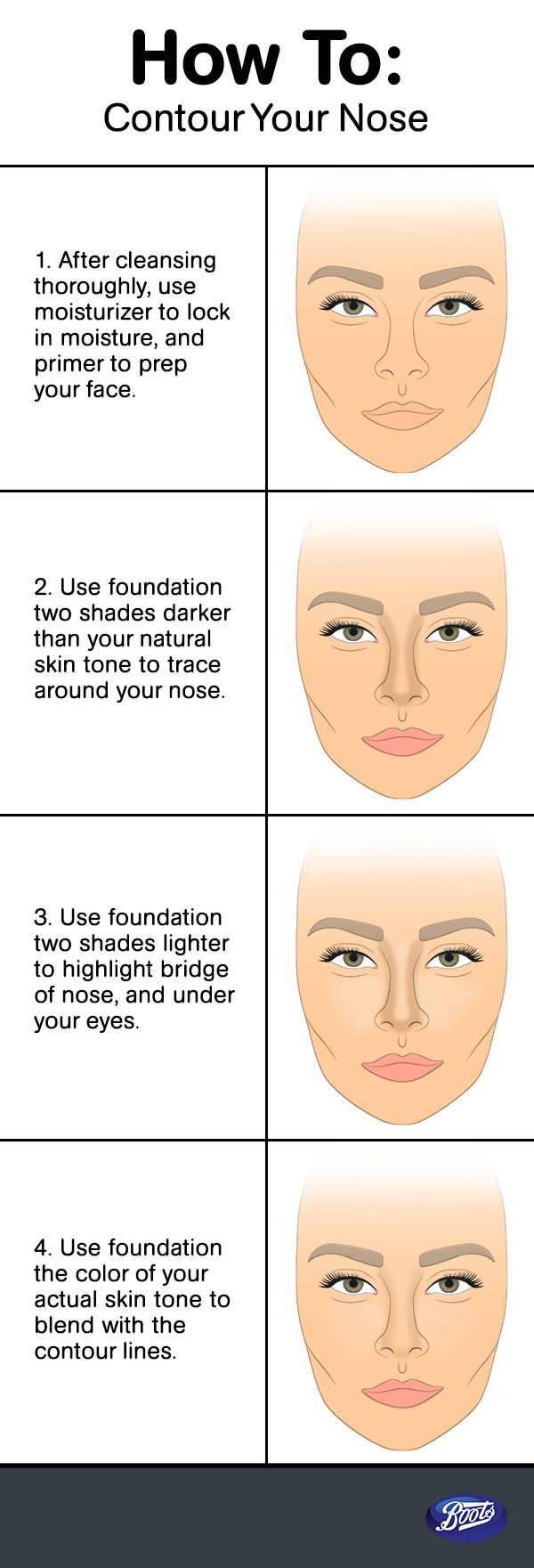 How to Get Thinner Nose with Makeup- Step by Step Tutorial (13)