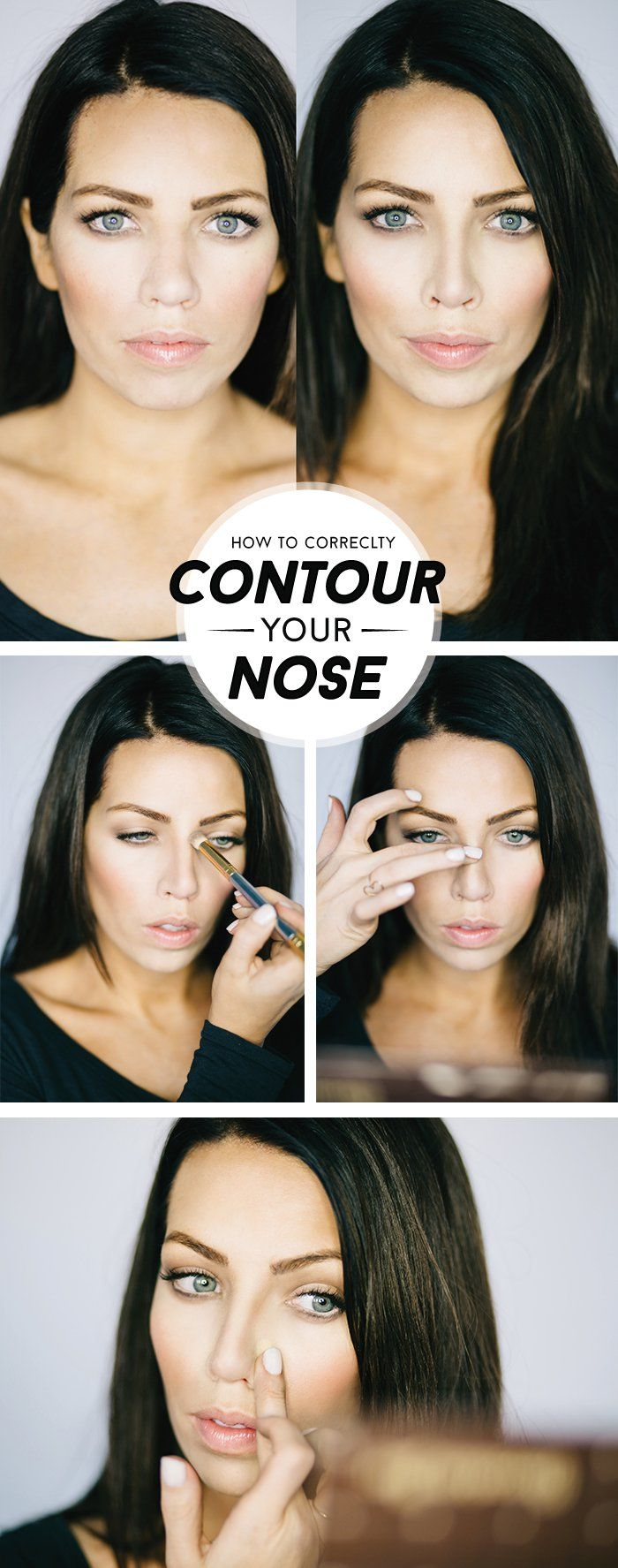 How to Get Thinner Nose with Makeup- Step by Step Tutorial (7)