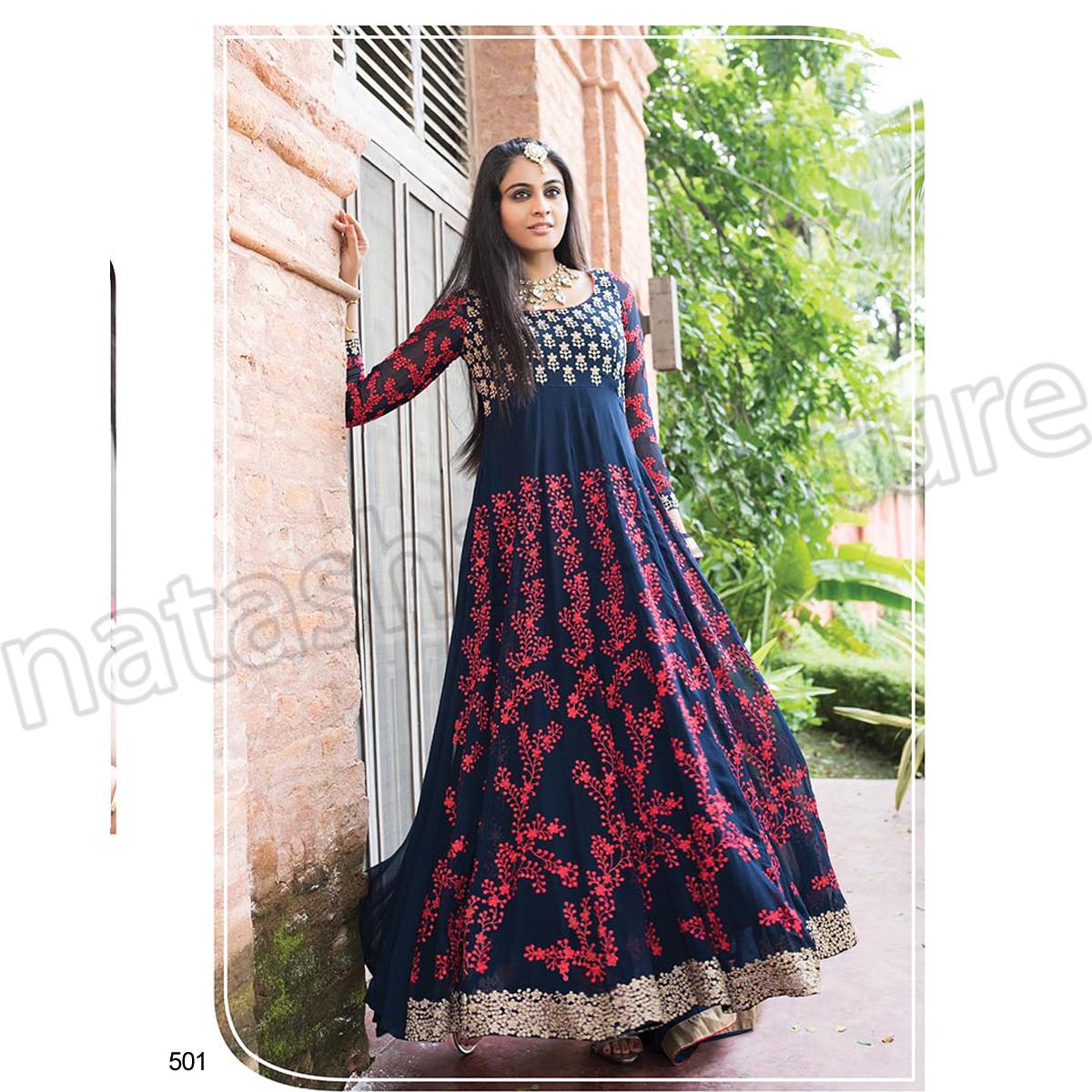 Latest Floor Length Anarkali Dresses & Frocks Collection 2015-2016 (11)