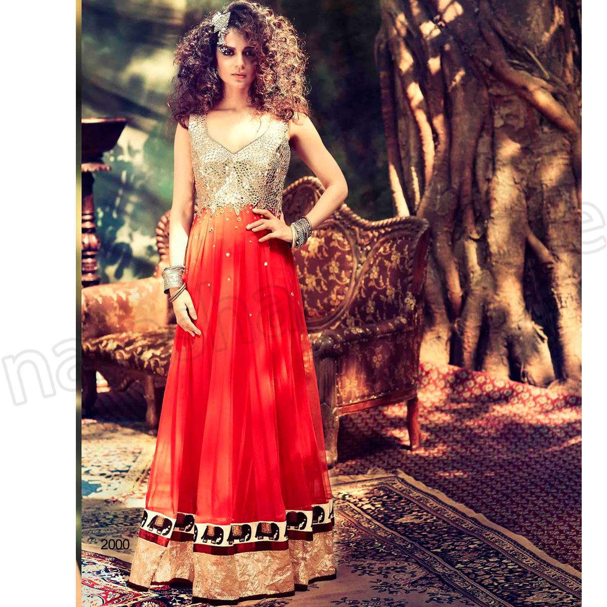 Latest Floor Length Anarkali Dresses & Frocks Collection 2015-2016 (20)