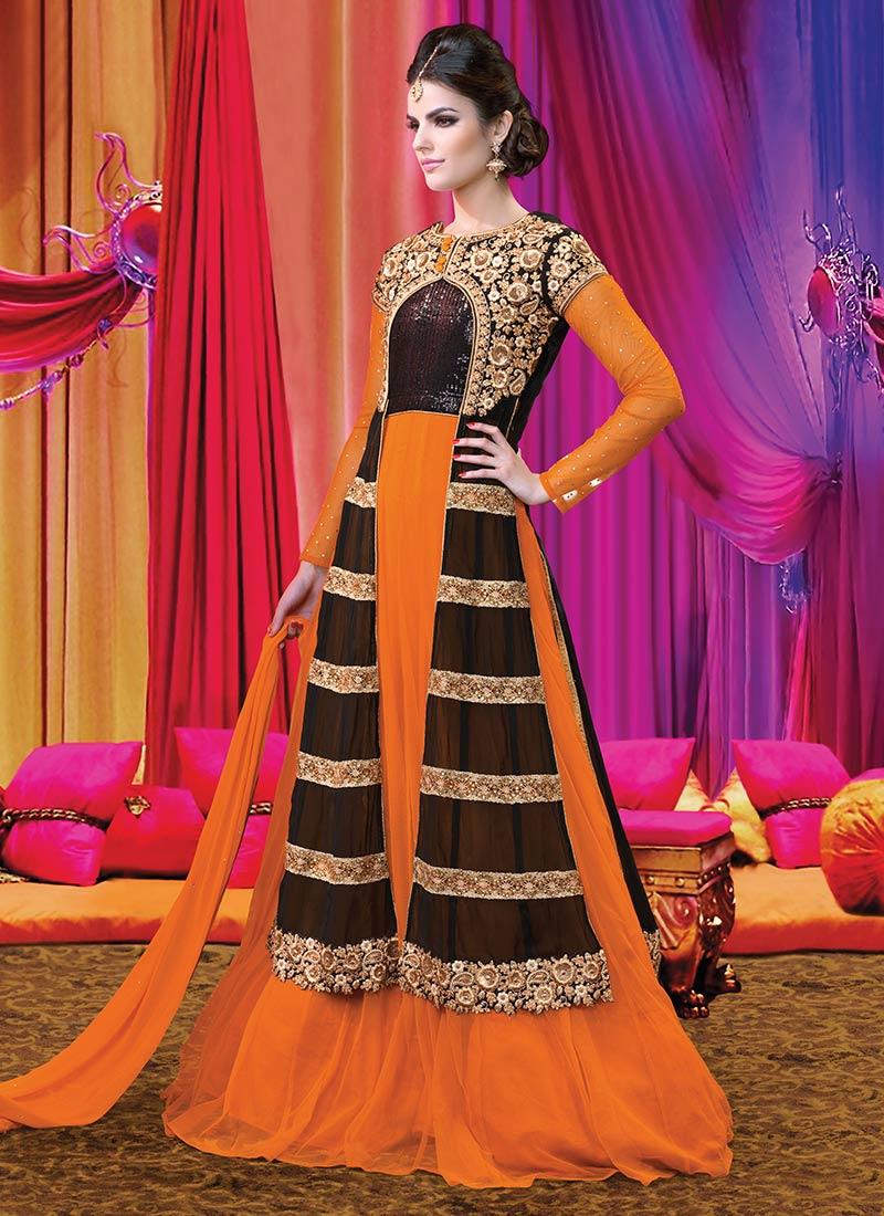 Latest Floor Length Anarkali Dresses & Frocks Collection 2015-2016 (23)