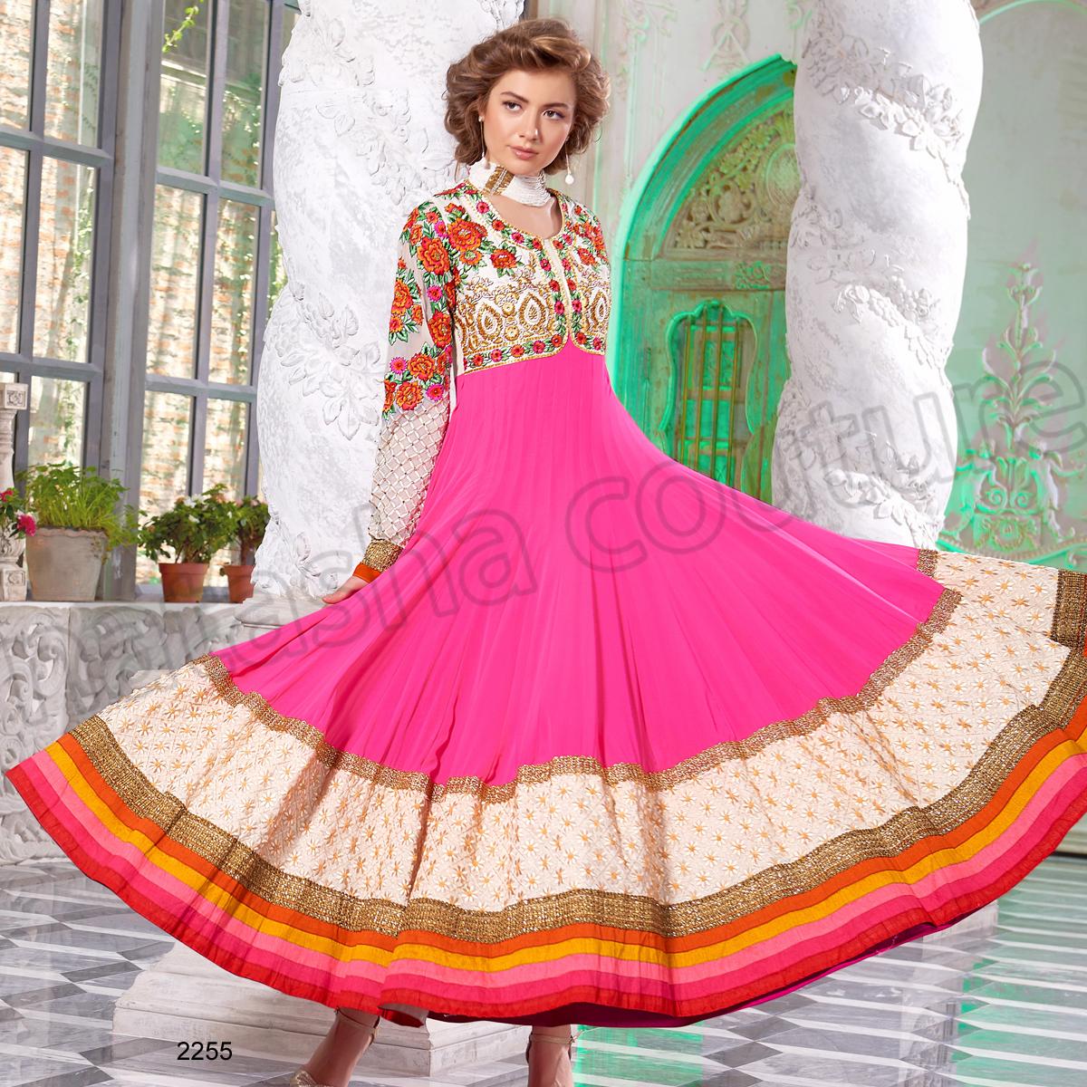 Latest Floor Length Anarkali Dresses & Frocks Collection 2015-2016 (24)