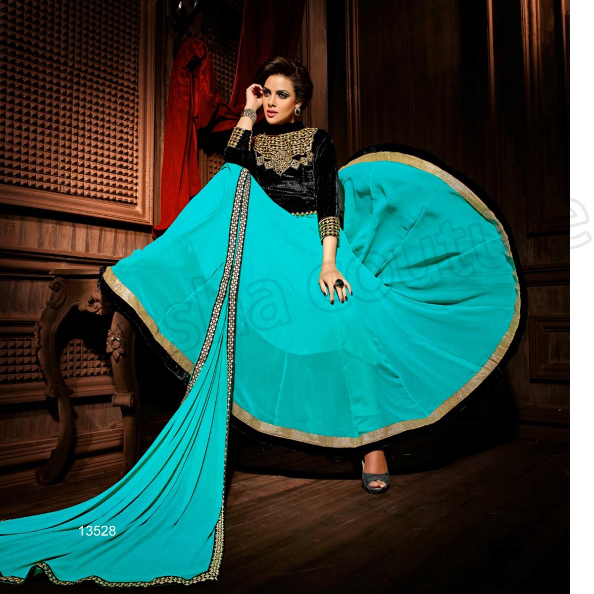 Latest Floor Length Anarkali Dresses & Frocks Collection 2015-2016 (5)