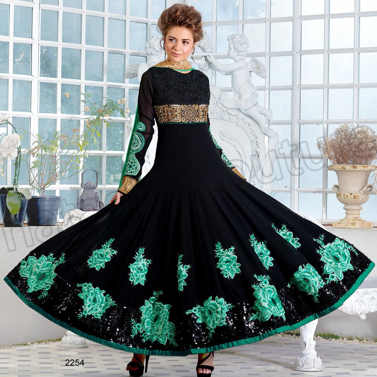 Latest Floor Length Anarkali Dresses & Frocks Collection 2015-2016 (7)