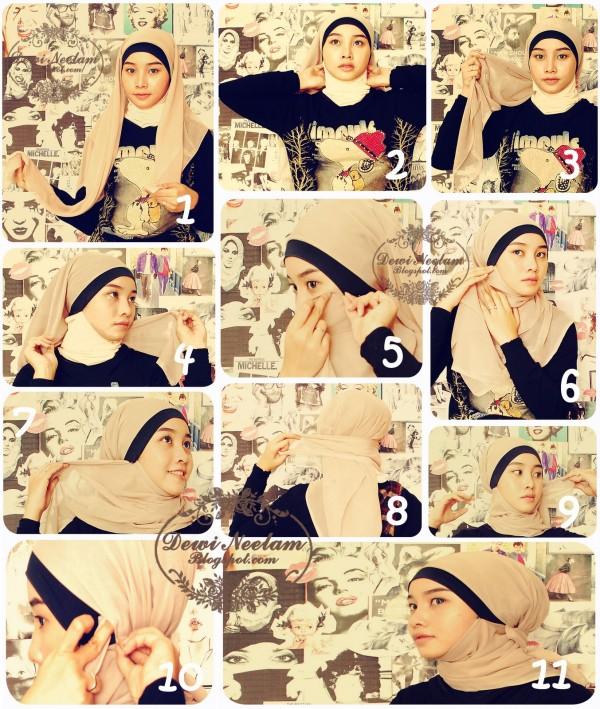 Latest Hijab Styles Tutorials & Designs 2015-2016 (10)