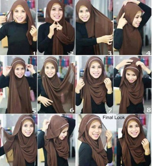 Latest Hijab Styles Tutorials & Designs 2015-2016 (11)