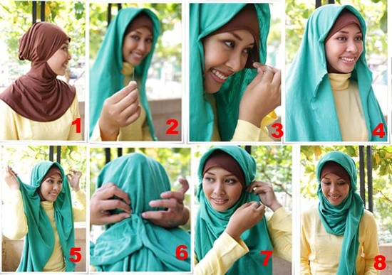 Latest Hijab Styles Tutorials & Designs 2015-2016 (19)