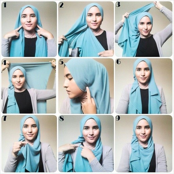Latest Hijab Styles Tutorials & Designs 2015-2016 (2)