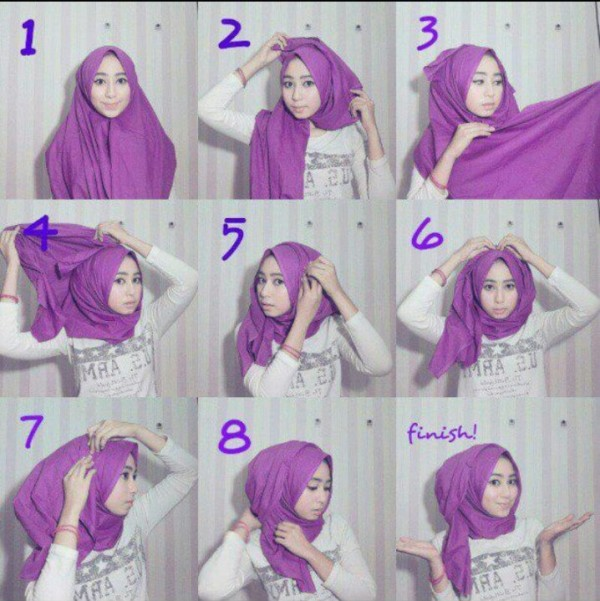 Latest Hijab Styles Tutorials & Designs 2015-2016 (20)