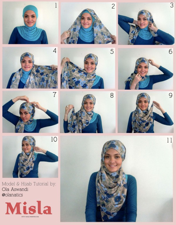 Latest Hijab Styles Tutorials & Designs 2015-2016 (24)