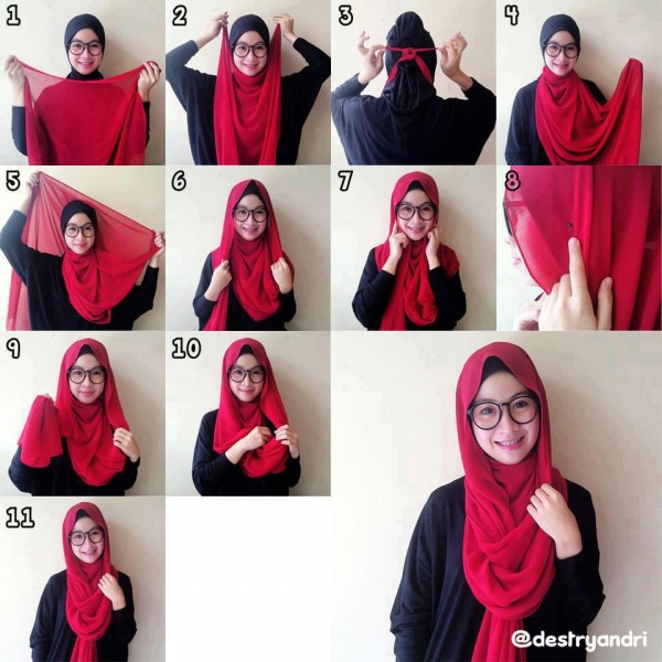 Latest Hijab Styles Tutorials & Designs 2015-2016 (25)