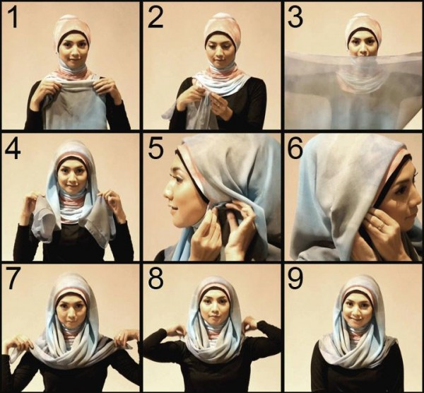 Latest Hijab Styles Tutorials & Designs 2015-2016 (4)