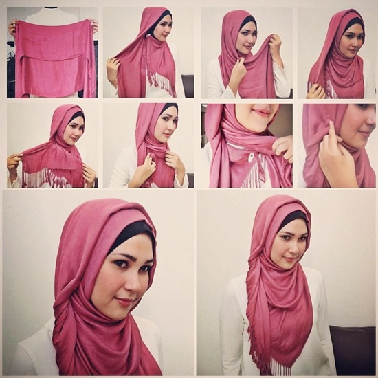 Latest Hijab Styles Tutorials & Designs 2015-2016 (7)