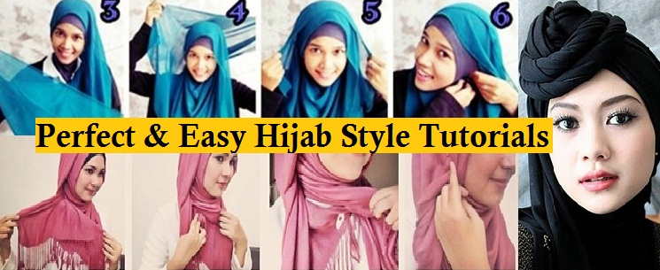 Latest Beautiful Hijab Styles Tutorial 2018-19 Different Face Shapes