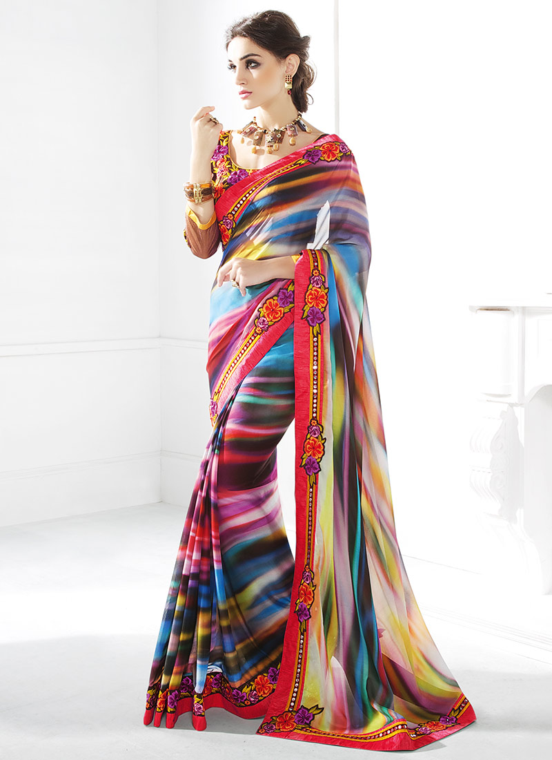 Latest Indian Party Wear Sarees Collection 2015-2016 (14)