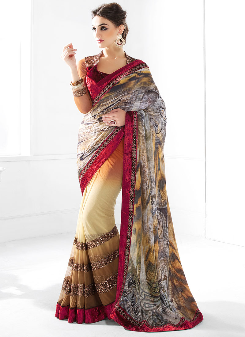 Latest Indian Party Wear Sarees Collection 2015-2016 (15)