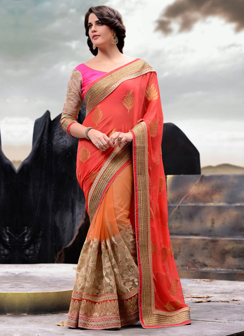Latest Indian Party Wear Sarees Collection 2015-2016 (16)