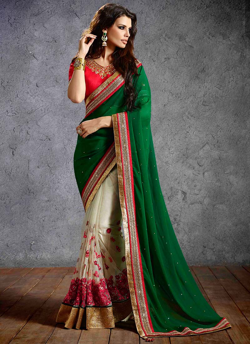 Latest Indian Party Wear Sarees Collection 2015-2016 (18)