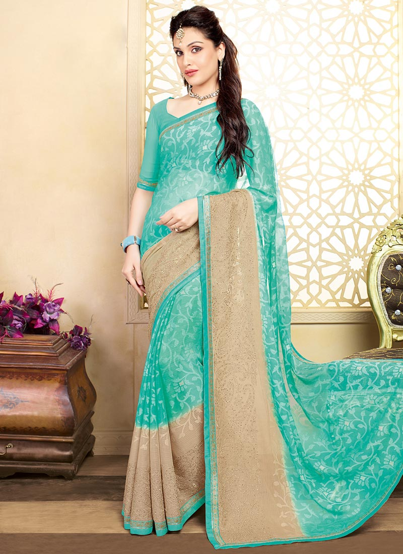 Latest Indian Party Wear Sarees Collection 2015-2016 (19)