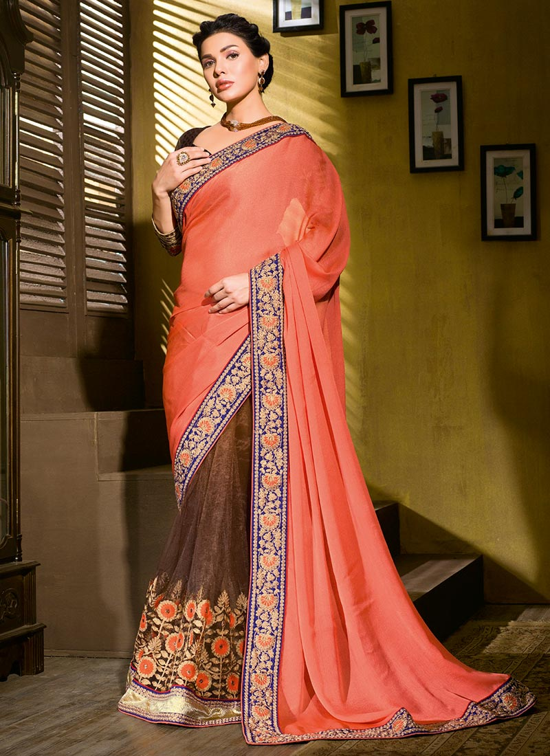 Latest Indian Party Wear Sarees Collection 2015-2016 (20)