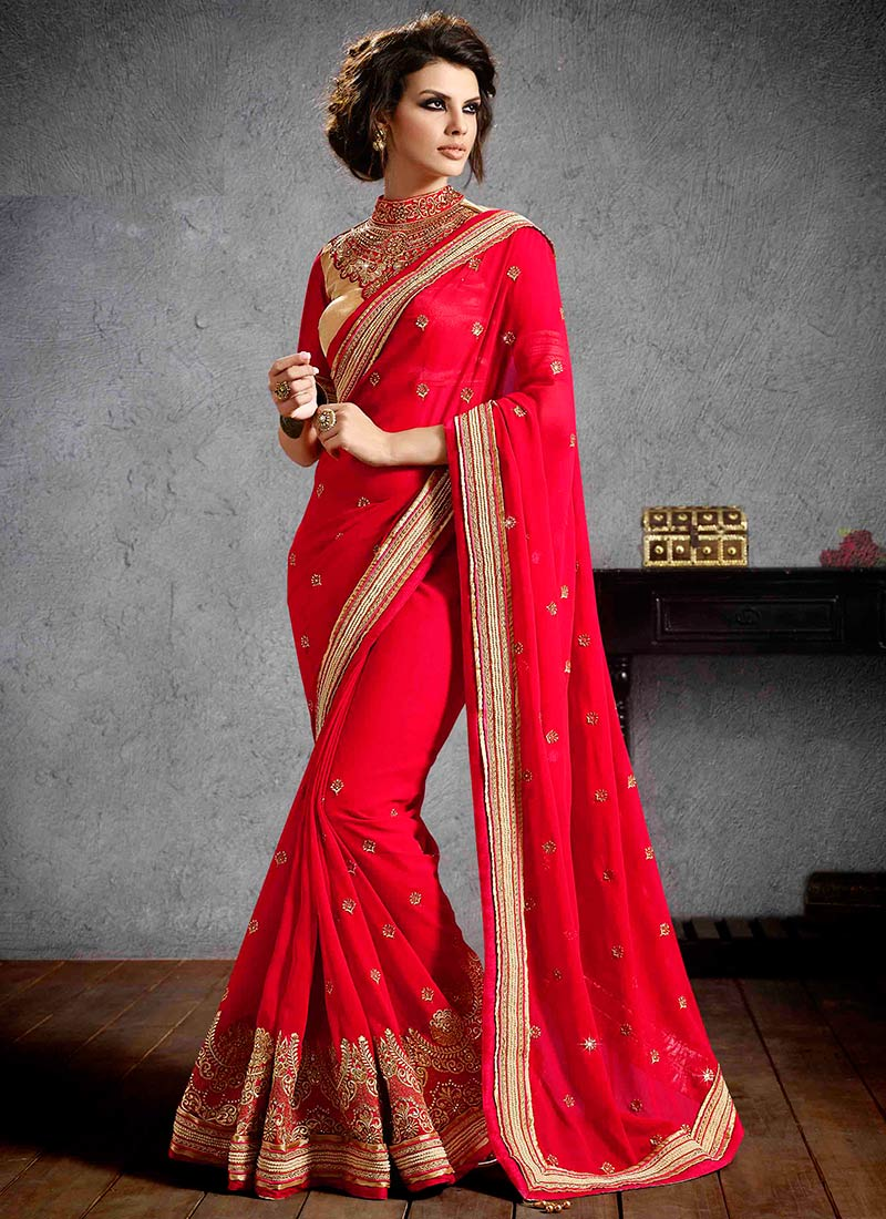 Latest Indian Party Wear Sarees Collection 2015-2016 (25)
