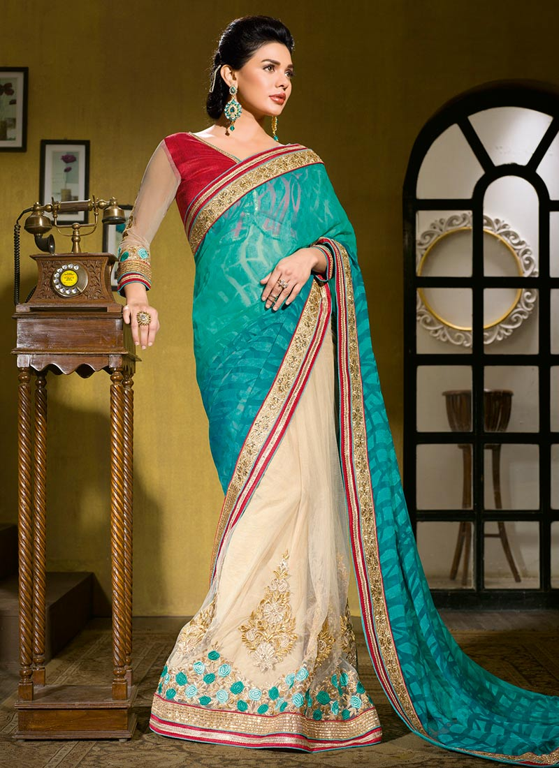 Latest Indian Party Wear Sarees Collection 2015-2016 (26)