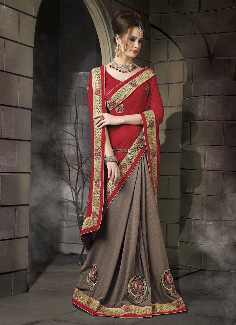 Latest Indian Party Wear Sarees Collection 2015-2016 (27)