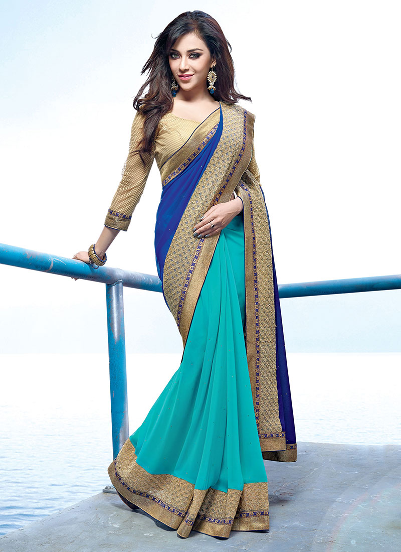 Latest Indian Party Wear Sarees Collection 2015-2016 (28)